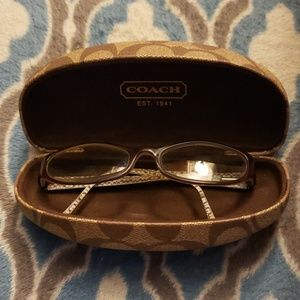 Coach eyeglass frames and case
